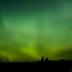 Northern Lights over Northern Lights Lake: Northern lights in northern Minnesota.