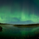 Northern Lights Over Northern Lights Lake: Northern lights fill the sky over Northern Lights Lake just outside of Grand Marais, MN.