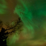 Northern Lights: Northern Lights over the Pigeon River near Grand Portage, Minnesota.
