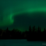 Northern Lights over Devil Track Lake: The northern lights made a brief show over Devil Track Lake. Minnesota.