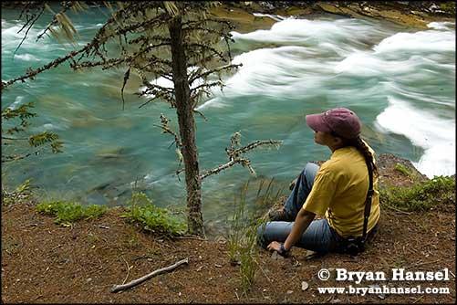 Woman at the Falls