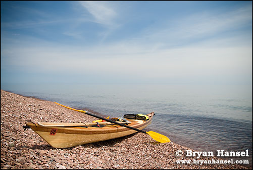 Kayak and Lake Superior