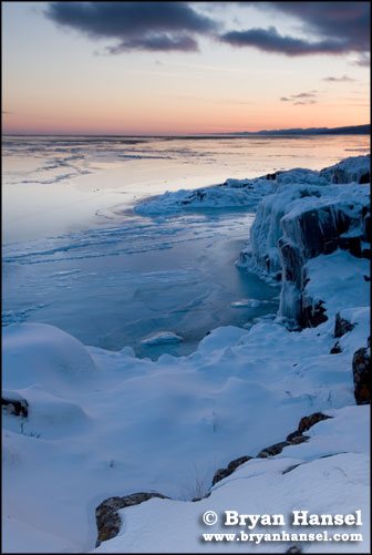 Frozen Shoreline on Lake Superior