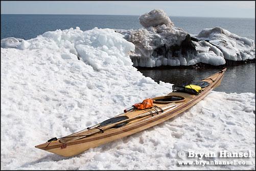 Kayak and Snow