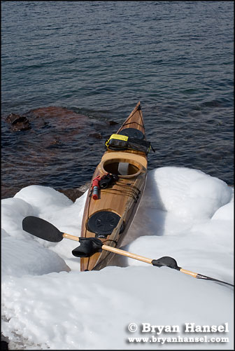 Lake Superior Kayak on Ice