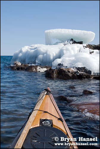Kayak on Lake Superior