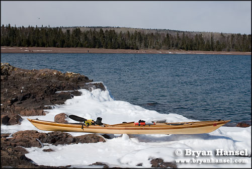 Kayak on Island