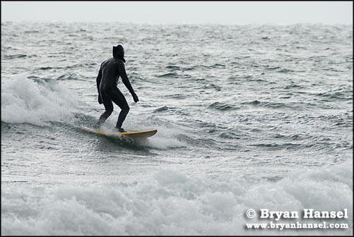 Surfer on Lake Superior