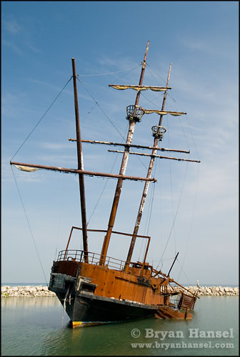 Wrecked Pirate Ship