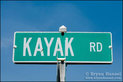 Kayak Road Sign