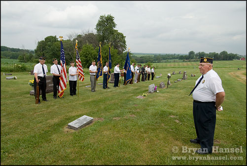 21 gun salute at Bethal Cemetery in Iowa.