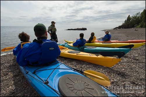 Kayak Guide Amy and Lutsen Resort in MN