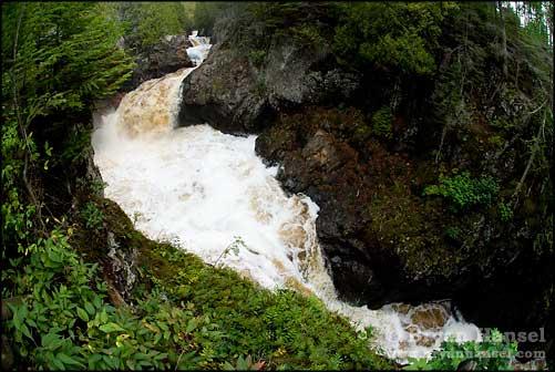 Fisheye Cascade River