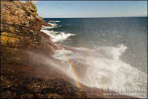 Rainbow in Exploding Waves at Sugarloaf Cove mn