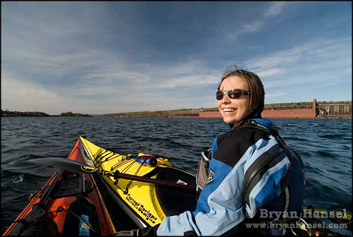 Amy Voytilla in a kayak