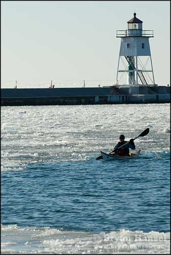 Winter Kayaking on Lake Superior