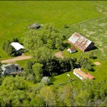 Aerial photography of northern Wisconsin real estate.