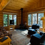 The living room in a cabin.