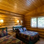 Cabin bedroom example.