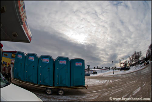 Toilets on a Trailer