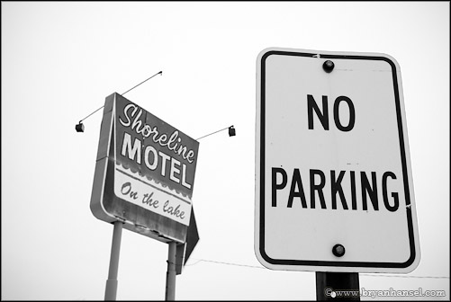 No Parking at the Shoreline Motel