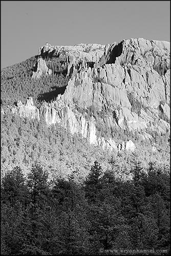 Harney Peak in Black and White