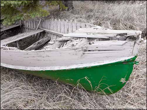 Abandoned Wooden Boat