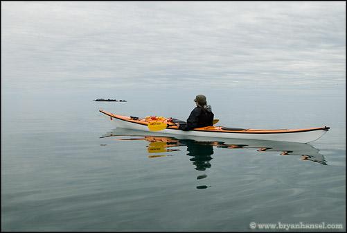Lake Superior Kayaking to Alligator Rock