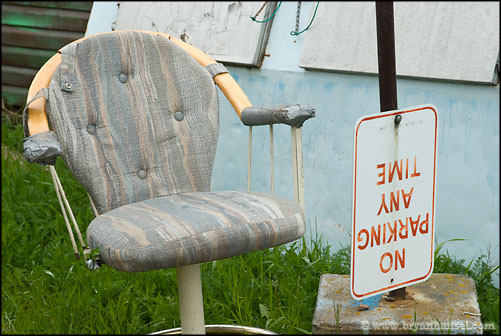 No Parking and Chair