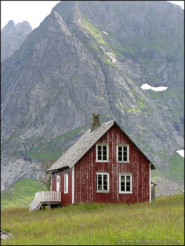 Red Norway Fishing House