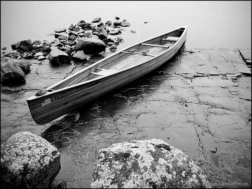 BWCA black and white canoe