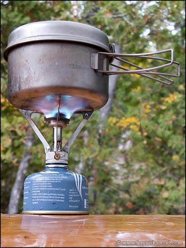 MSR Pocket Rocket cooking