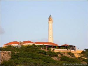 The classic California Lighthouse, Aruba, viewpoint.