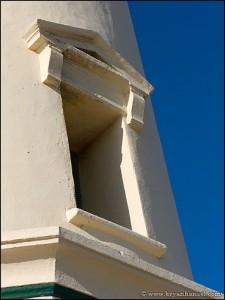 Window details. California Lighthouse, Aruba.