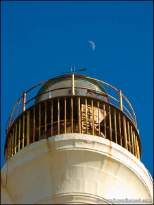 California Lighthouse and the moon.