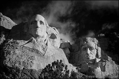 050608-15 - Mount Rushmore Black and White