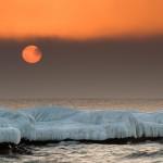 Sun Disk Behind Fog