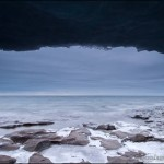 Lake Superior ice cave at Paradise Beach.