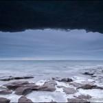Lake Superior ice cave at Paradise Beach.