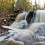 Split falls on the Fall River in Minnesota.