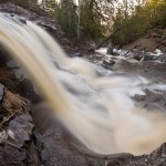 Spring runoff on the upper fall of the Fall River.