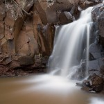Rosebush Creek waterfall on Minnesota's north shore.