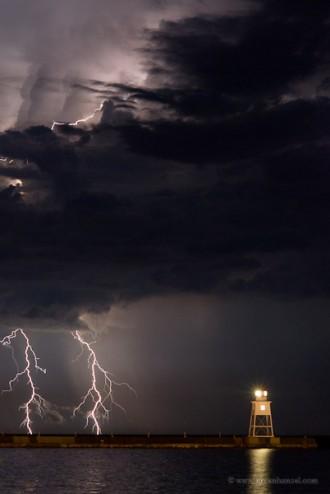 Grand Marais Lightning Storm