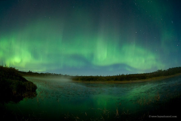 Minnesota northern lights over Nothern Lights Lake