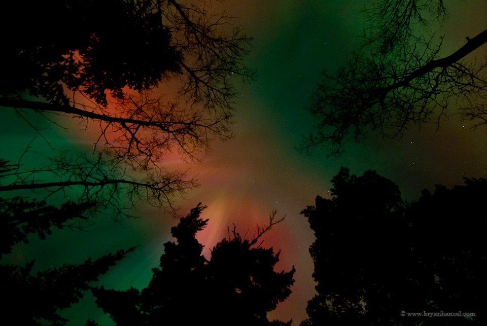 Minnesota Northern Lights over the Pigeon River
