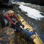 Canoe portage on the Pigeon River, Minnesota
