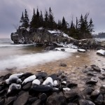 Hovland Rock III - waves on Lake Superior