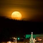 Moon rise over Grand Marais