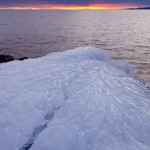 Ice on the Lake Superior shore.