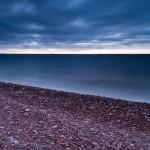 A stone beach on Lake Superior.